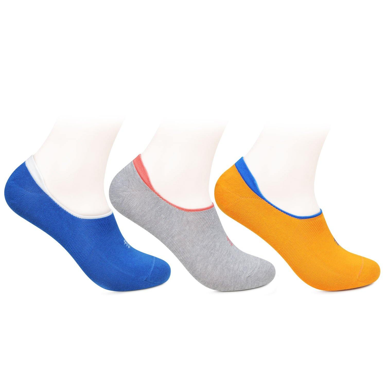 Women's Multicolored Cotton Loafer Socks- Pack Of 3