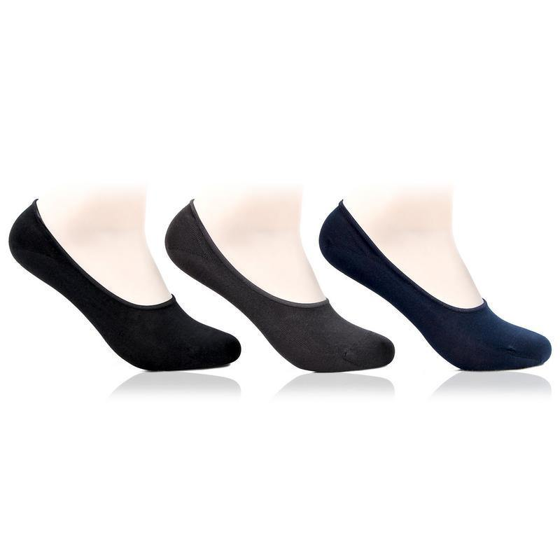Men's Multicolored Cotton Loafer Socks- Pack of 3