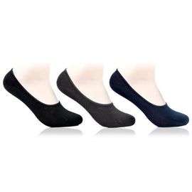 Men's Multicoloured Cotton Loafer Socks- Pack of 3