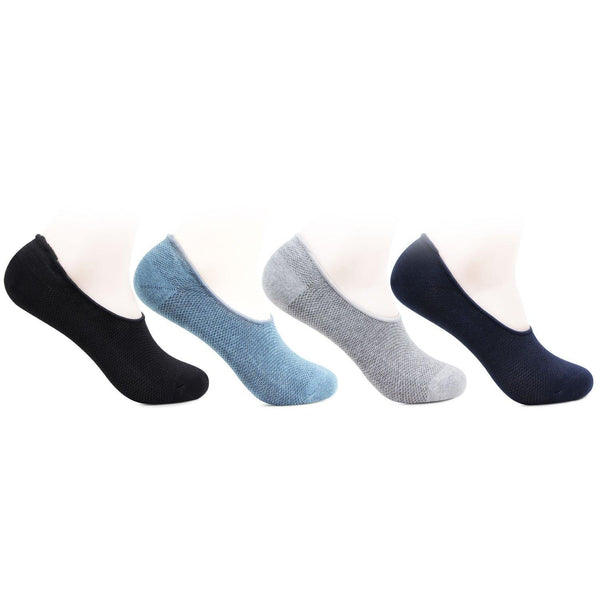 Men's Multicoloured Cotton Loafer Socks- Pack of 4