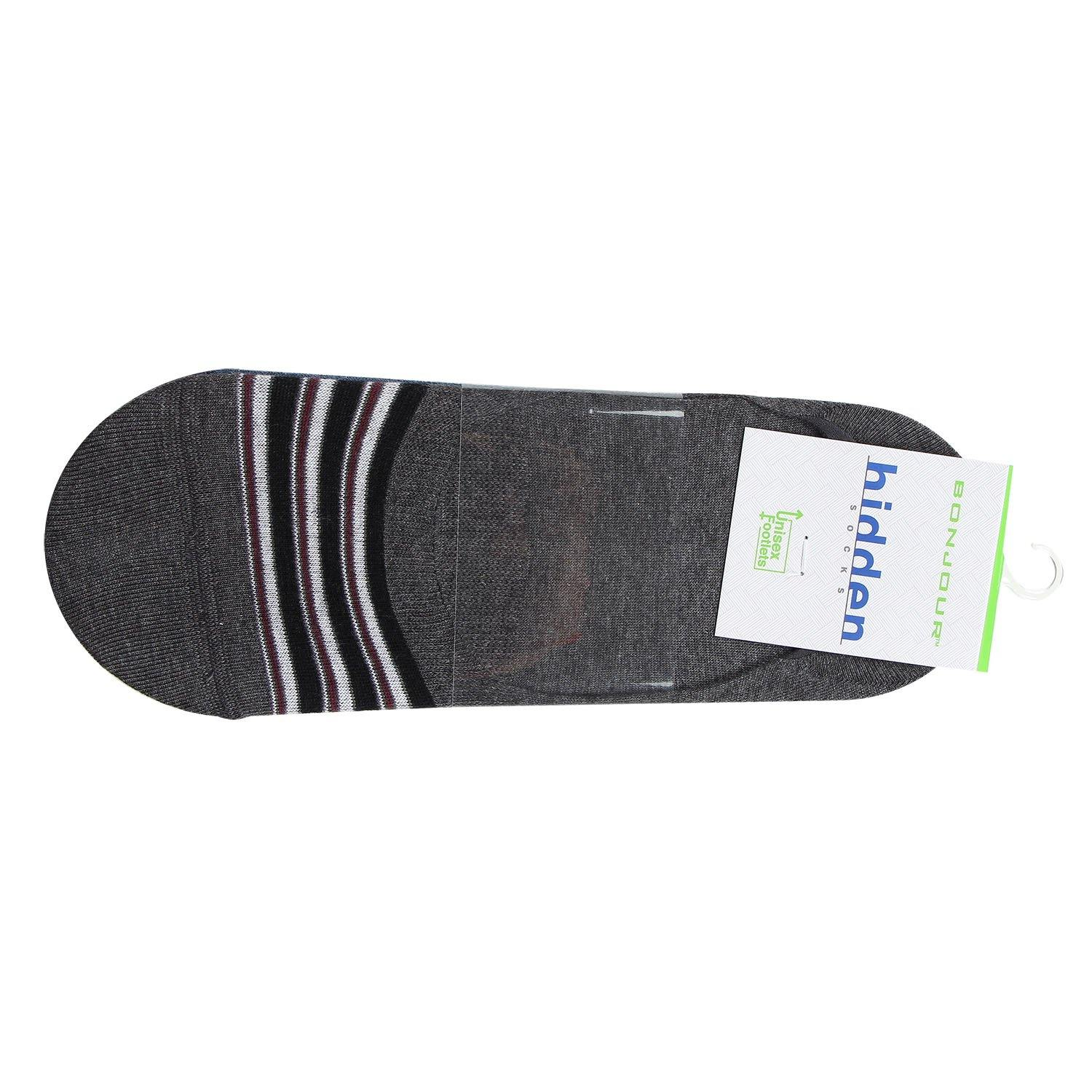 Men's Multicolored Cotton Loafer Socks - Pack Of 4
