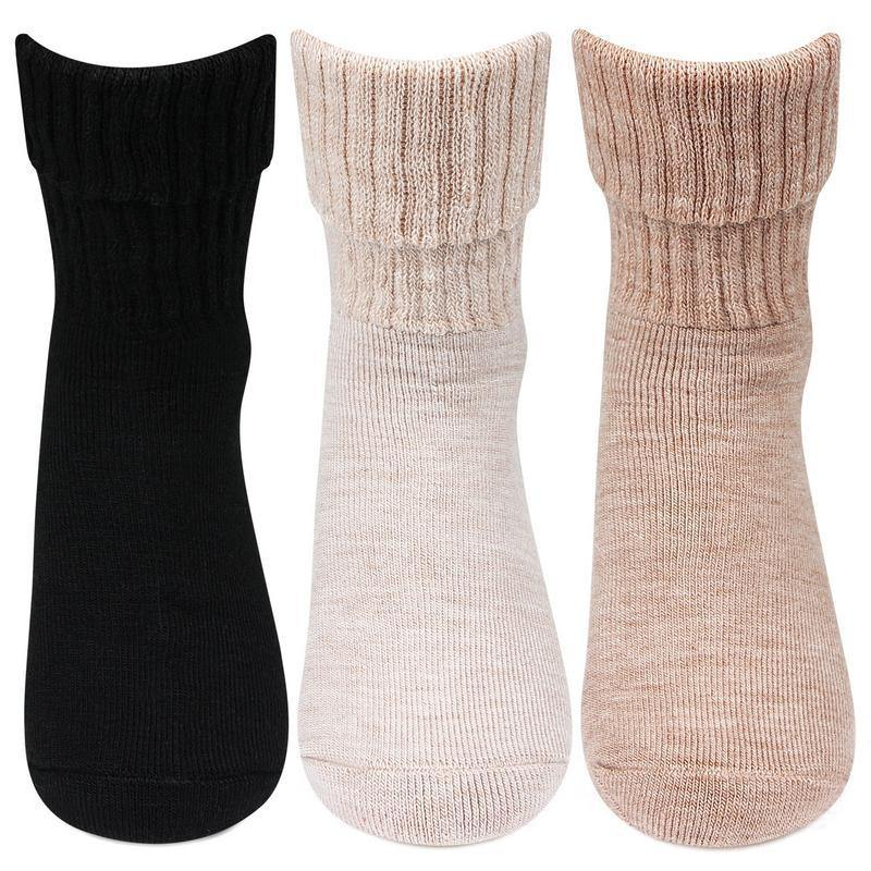 Women's Multicolored Woolen Socks -Pack of 3