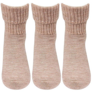 Women Fawn Woolen Socks