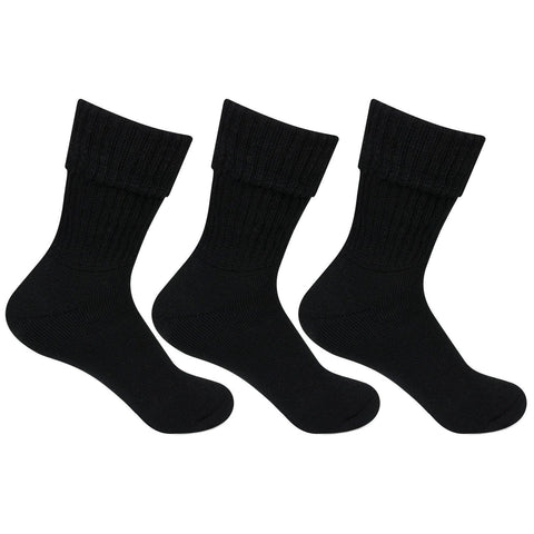 Women's Woolen Socks (Black) -Pack of 3