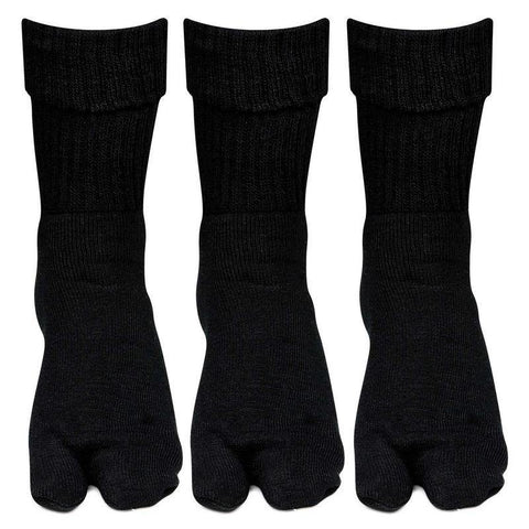 Women's Woolen Thumb Socks (Black) -Pack of 3