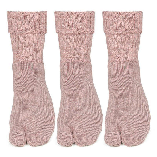 Women Fawn Woolen Thumb Socks