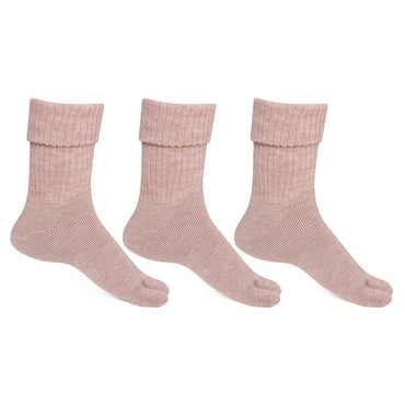 Women's Fawn Woolen Thumb Socks -Pack of 3
