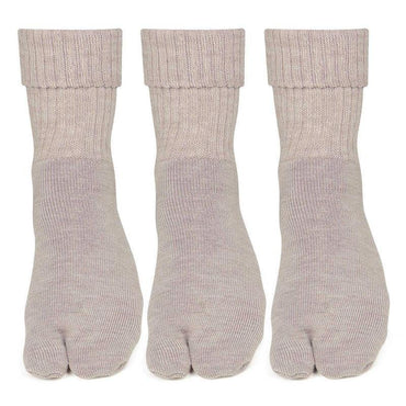 Women's Skin Woolen Thumb Socks -Pack of 3