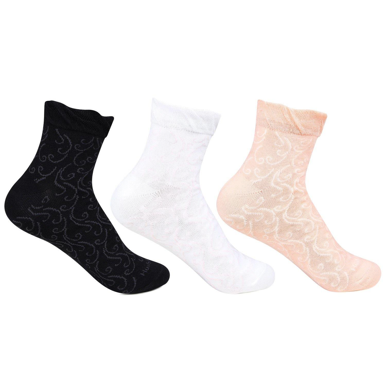 Hush Puppies Women's Fancy Ankle Socks - Pack of 3