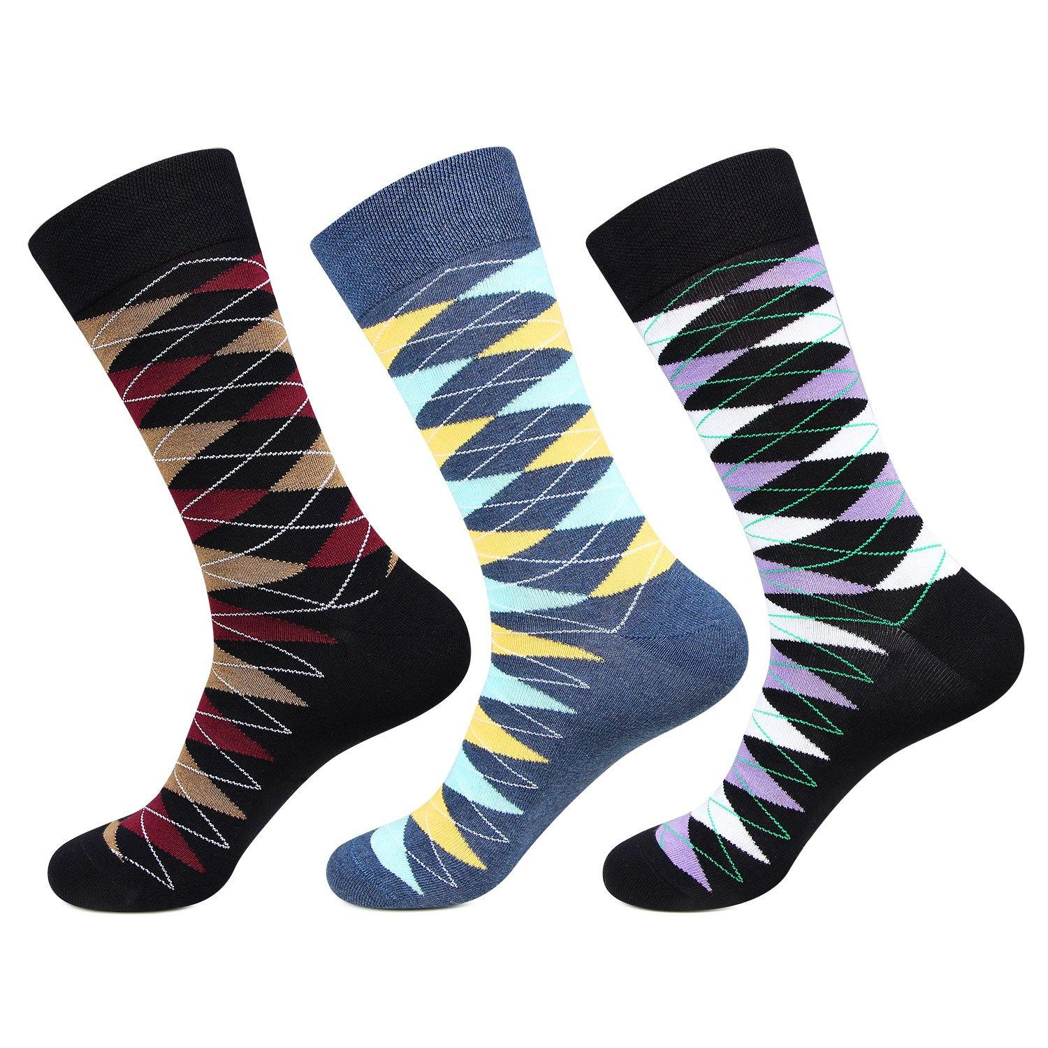 Hush Puppies Men's Multicolored Crew Socks - Pack of 3