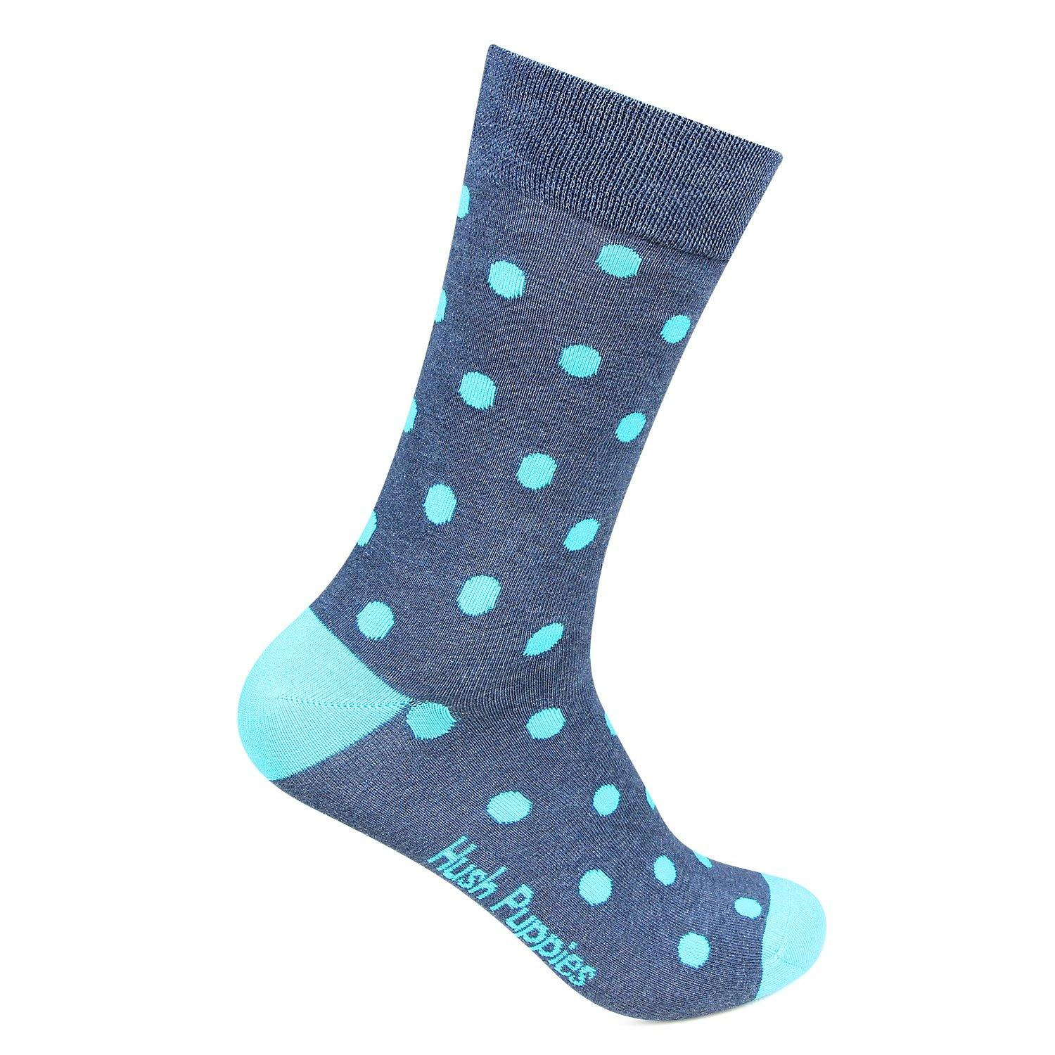 Hush Puppies Men Crew Length Polka Dots Socks