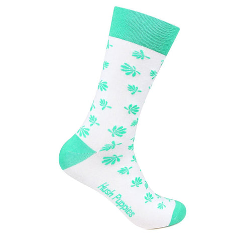 Hush Puppies Men's Floral Design Crew Length Socks