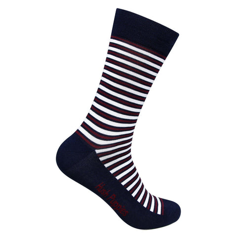 Hush Puppies Men's Stripes Crew Length Socks