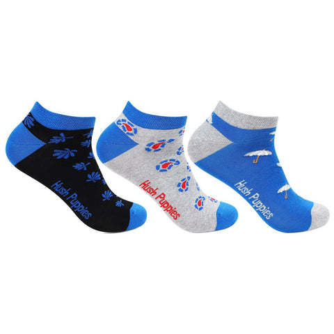 Hush Puppies Men's Cotton Ankle Socks - Pack of 3