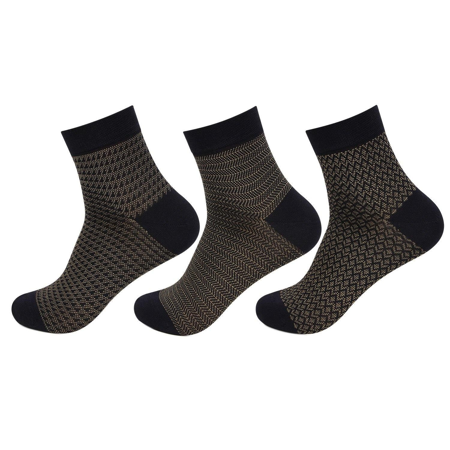Hush Puppies Men's Mercerized Cotton Ankle Socks - Pack of 3
