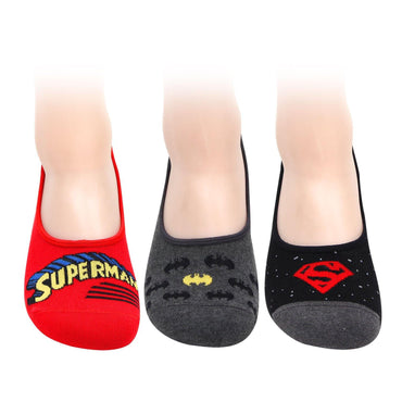 Superman Batman Loafer Socks for Men - Pack of 3