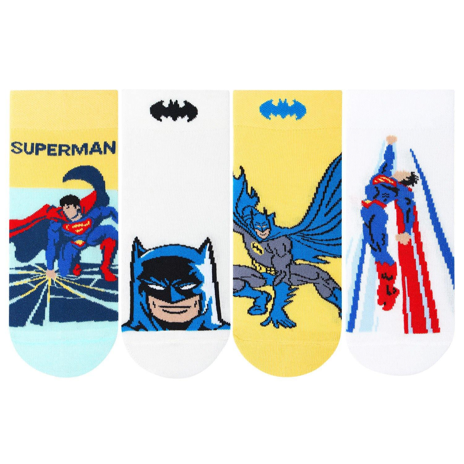 Kids Superman and Batman Socks
