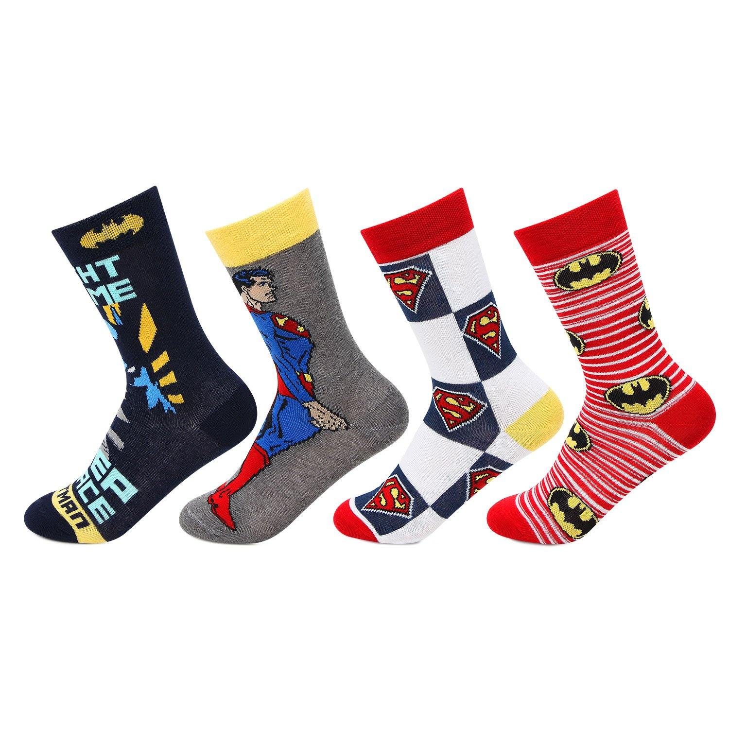 Batman and Superman Kids Crew Socks
