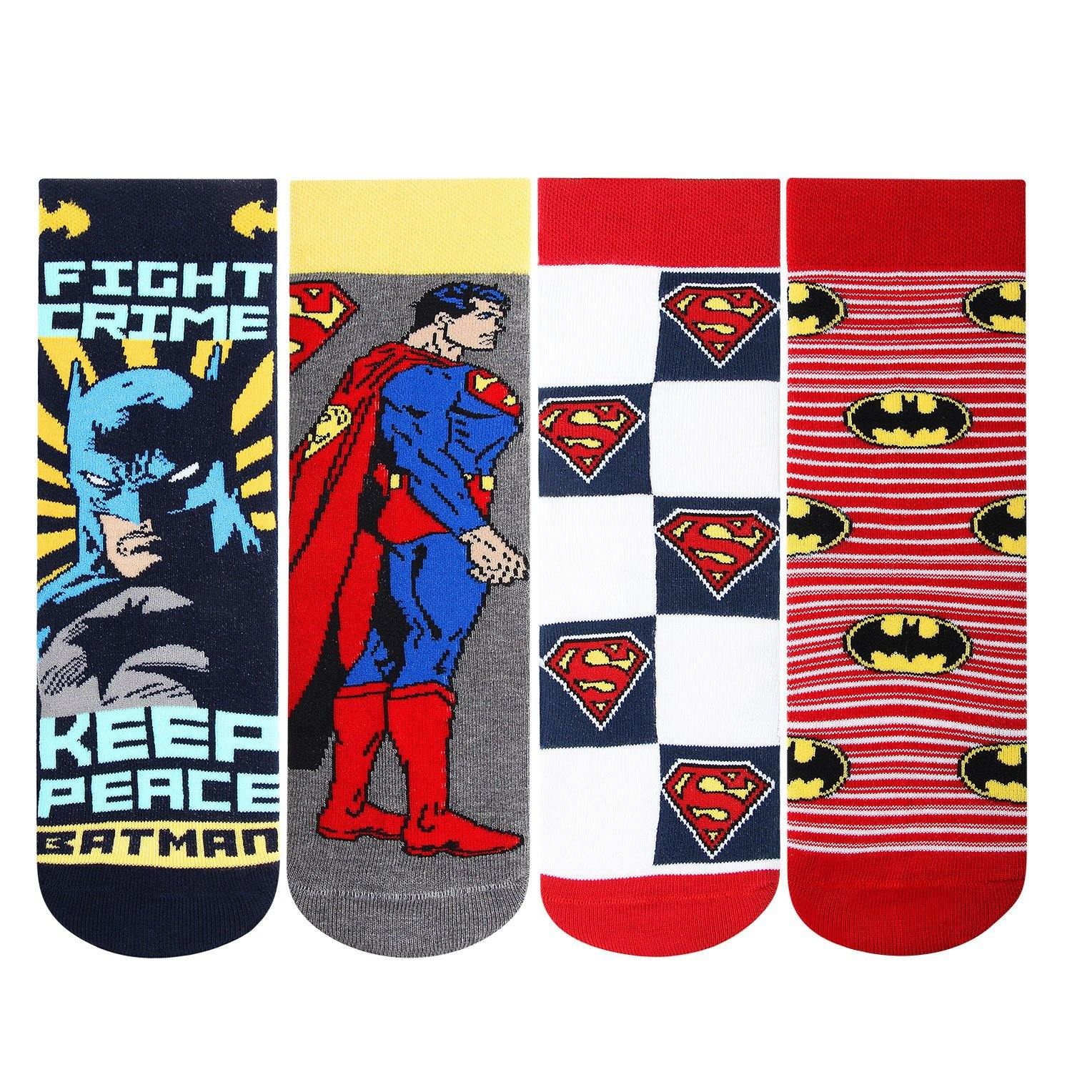 Batman and Superman Kids Socks