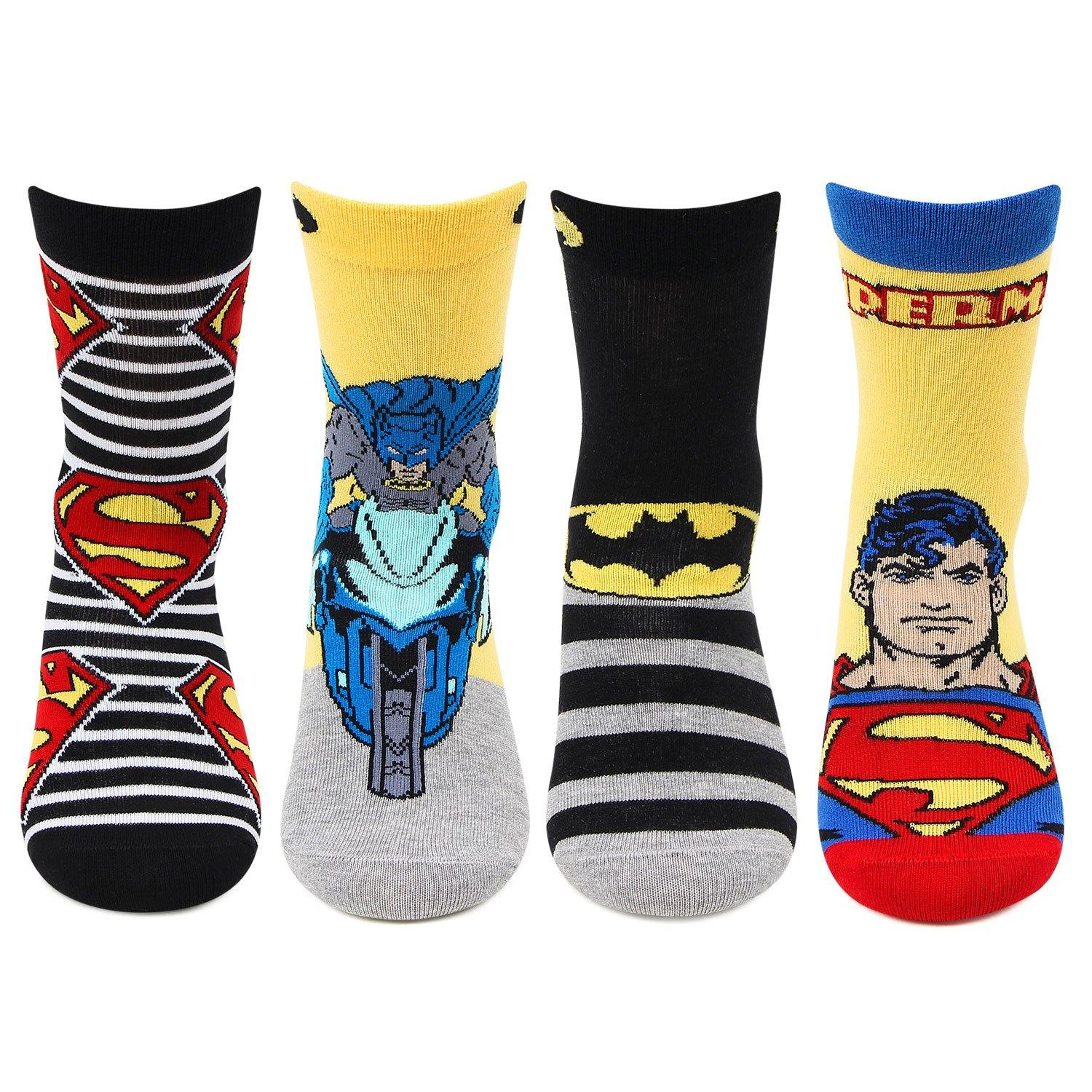 Superman and Batman Socks for Kids