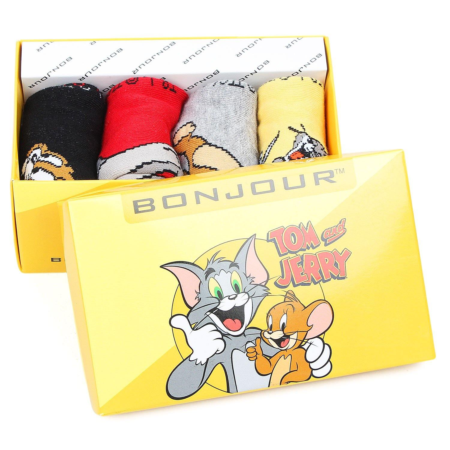 Tom & Jerry Ankle Socks for Kids - Pack of 4