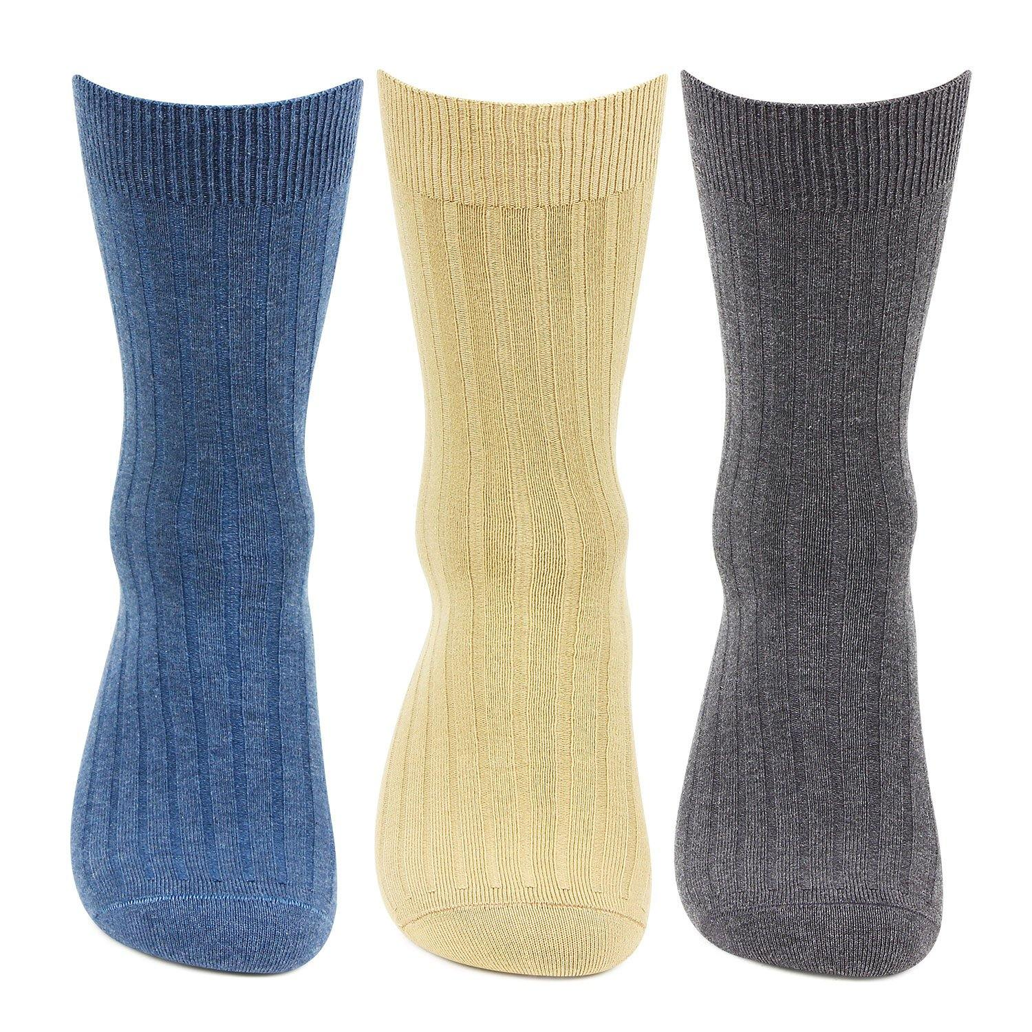 Hush Puppies Men's Cotton Crew Rib Socks - Pack of 3