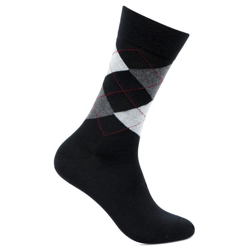 Men's Black Classic Argyle Woolen Socks