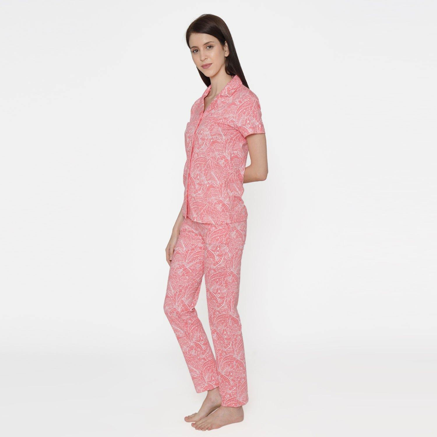 Regular Fit Casual Women's Lounge wear Set -Tee With Lower