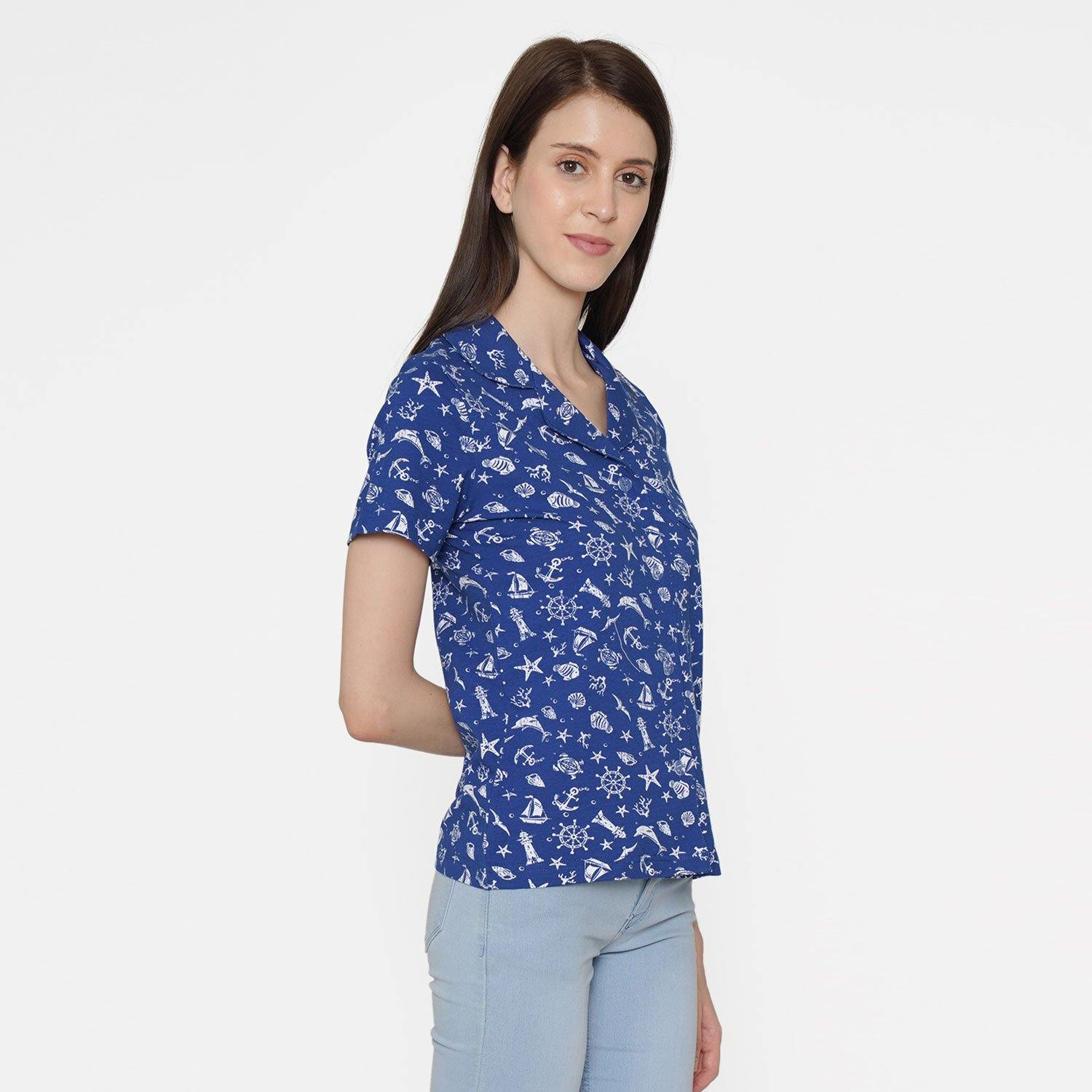 Casual Half Sleeve Regular fit Printed Women's T-shirt - Bonjour Group