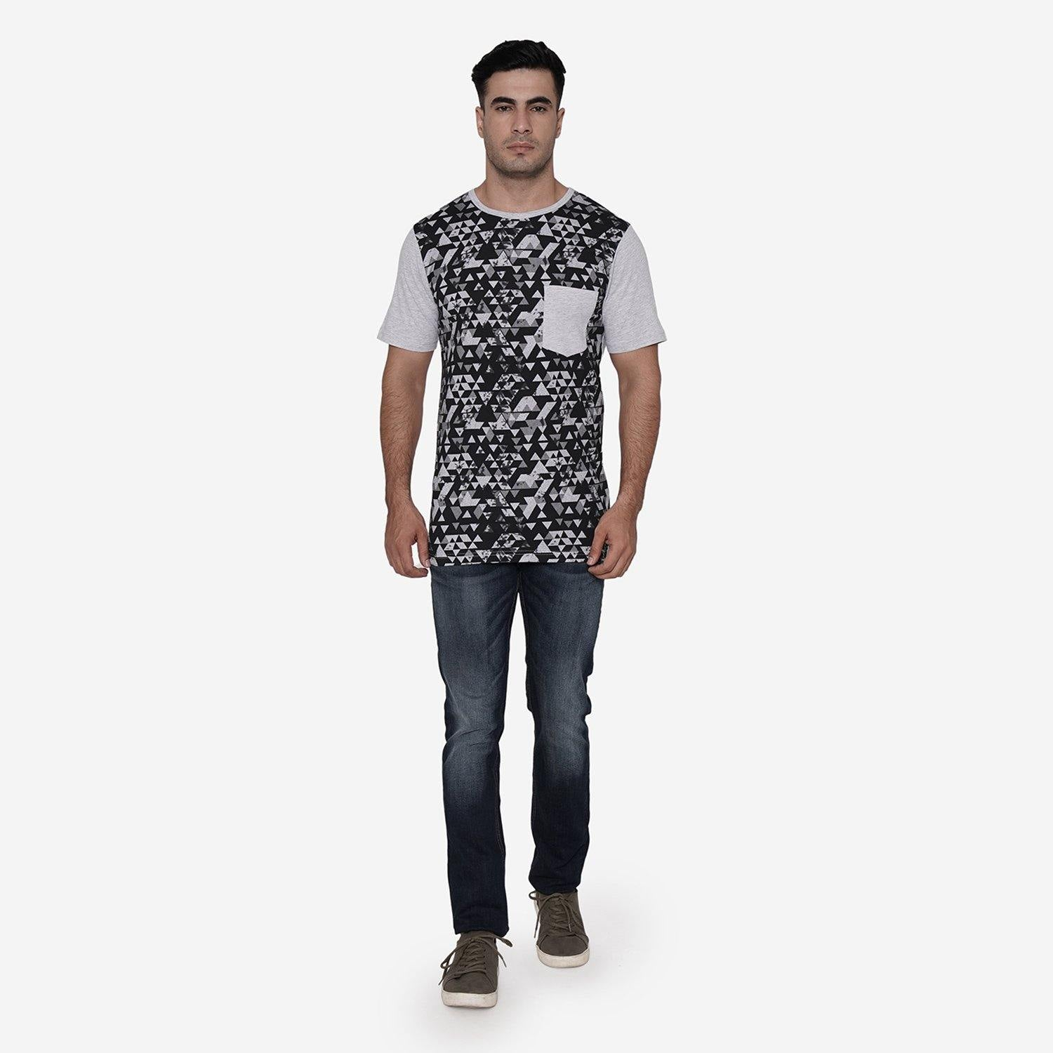 Men's Printed Half Sleeve Casual T-Shirt For Summer