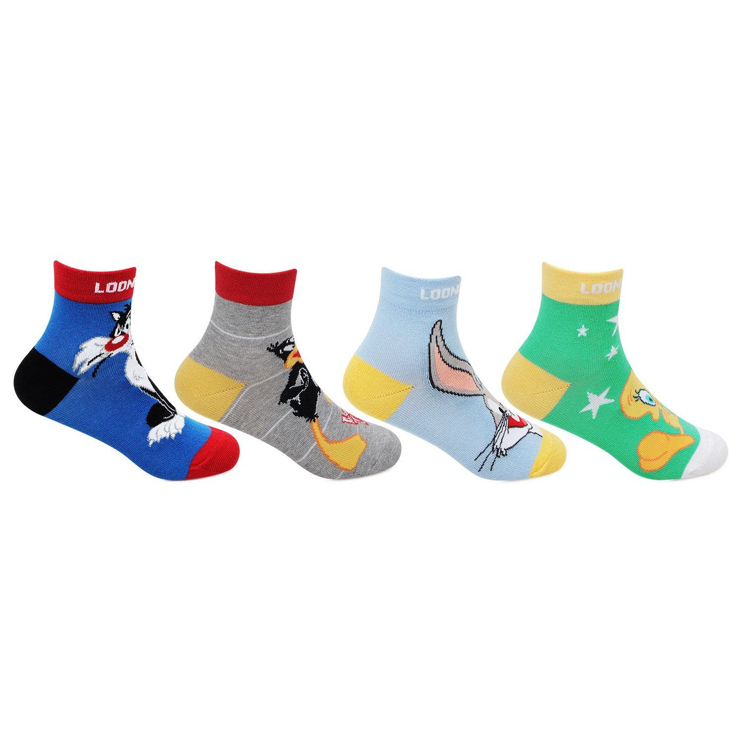 Looney Tunes Kids Multi color Ankle Socks For Kids - Pack Of 3