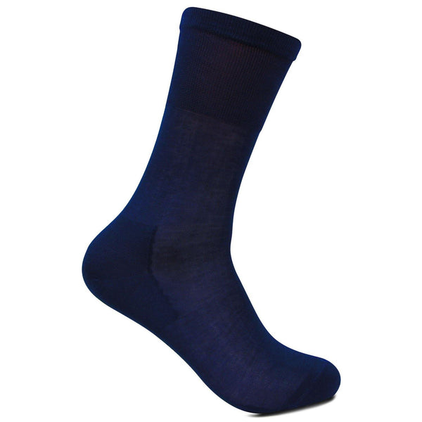 Men's Premium Signature Feather lite Embroidered Full-Length Socks (Ink Blue)