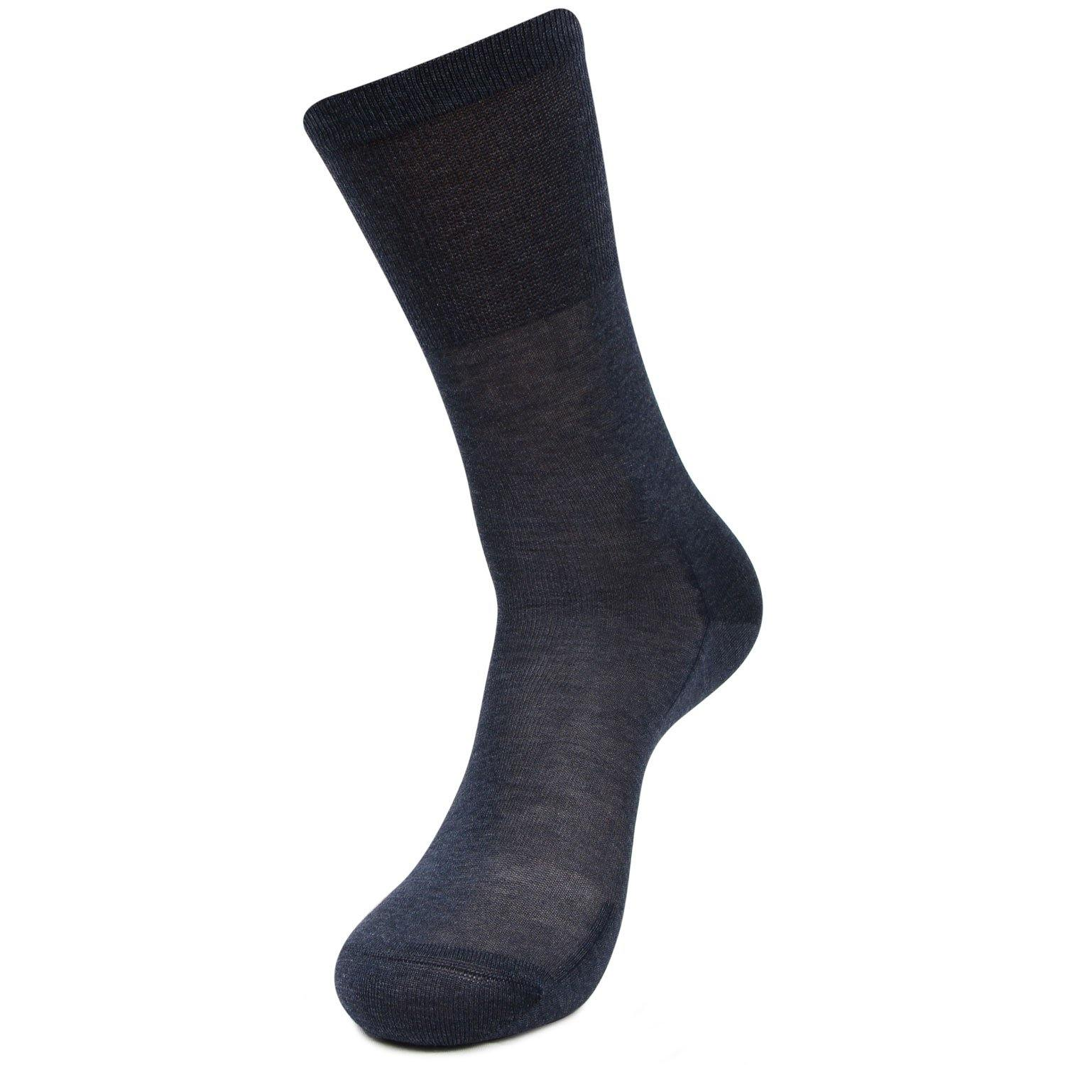 Men's Premium Signature Feather lite Embroidered Full Length Socks (Dark Grey)