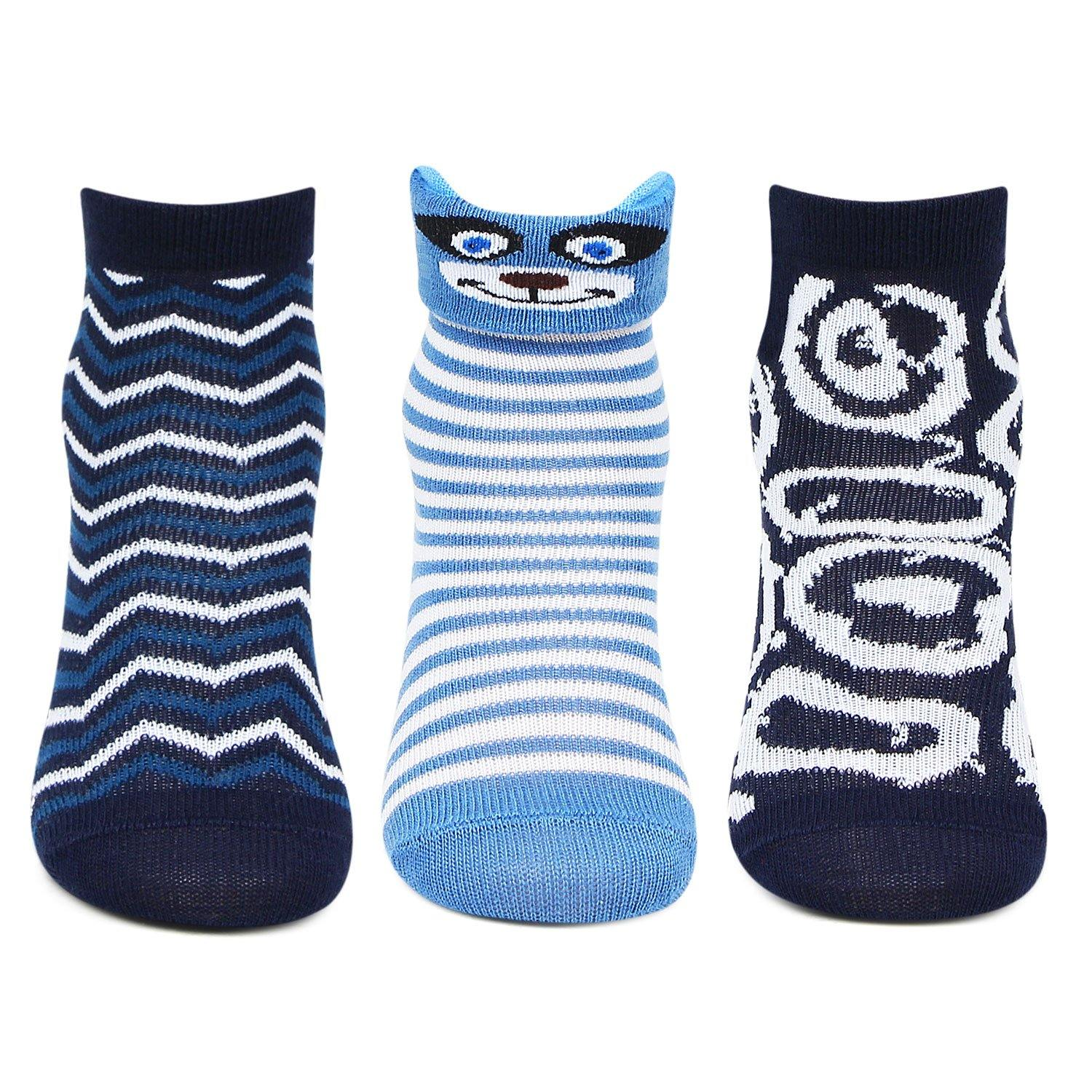 Poochie Baby Infant Multi pack Socks for Boys -Pack Of 3