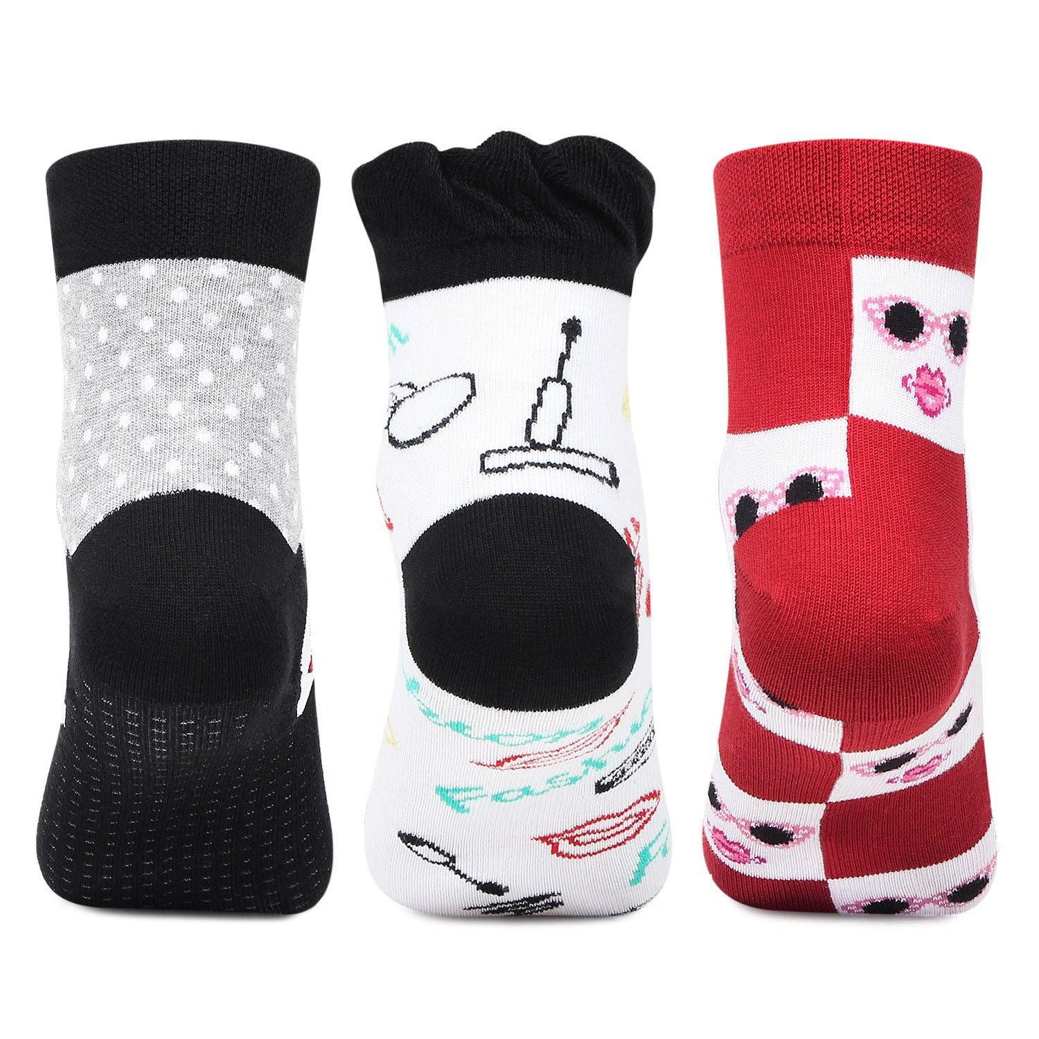 Fashionable Ankle Length Multi color Socks  For Women
