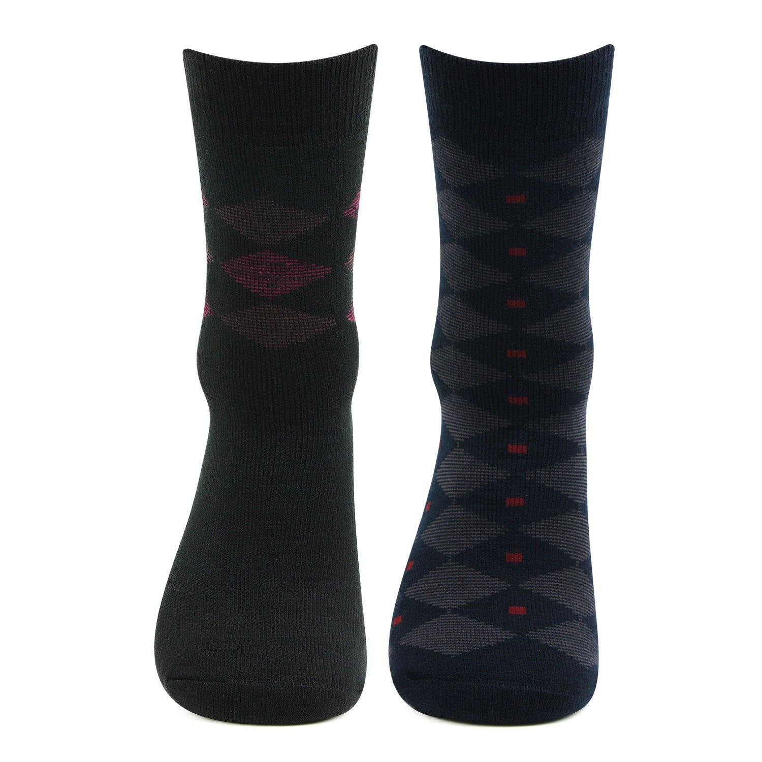 Premium Cushioned Crew Length Woolen Socks For Men - Pack Of 2