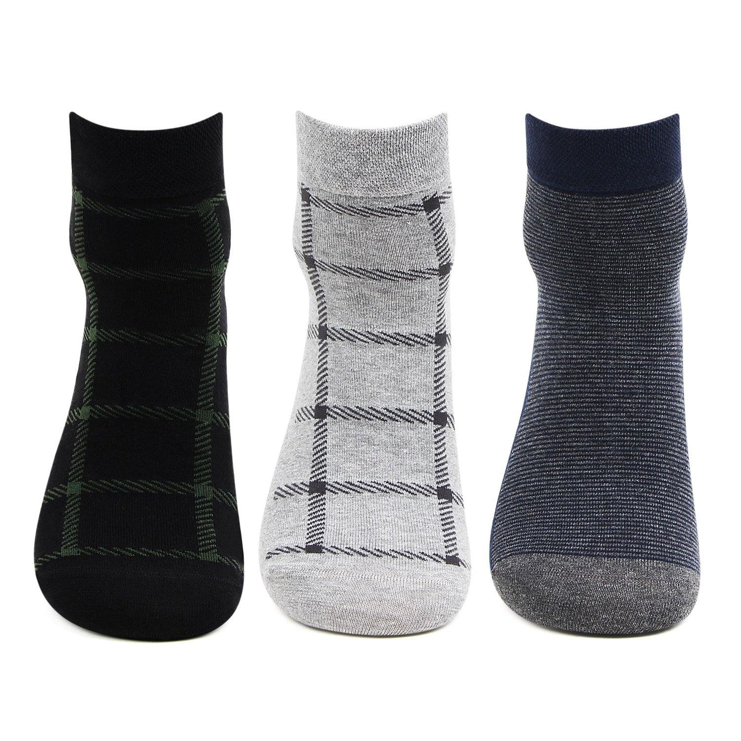 Mens Scottish Collection Ankle Socks-Pack Of 3