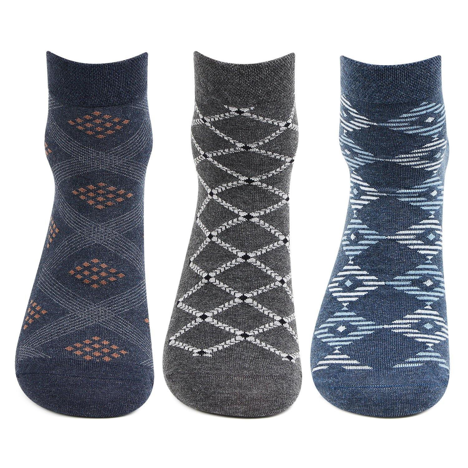 Men's Scottish Collection Ankle Socks -Pack Of 3