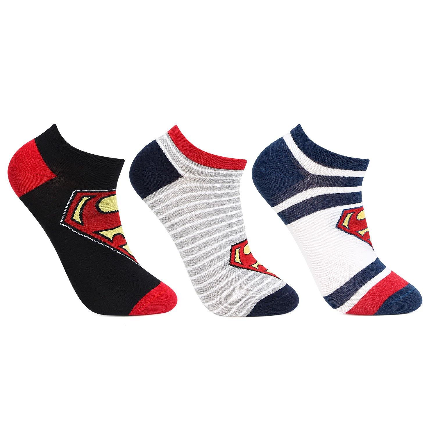 Superman Secret -Length Socks For Men - Pack Of 3