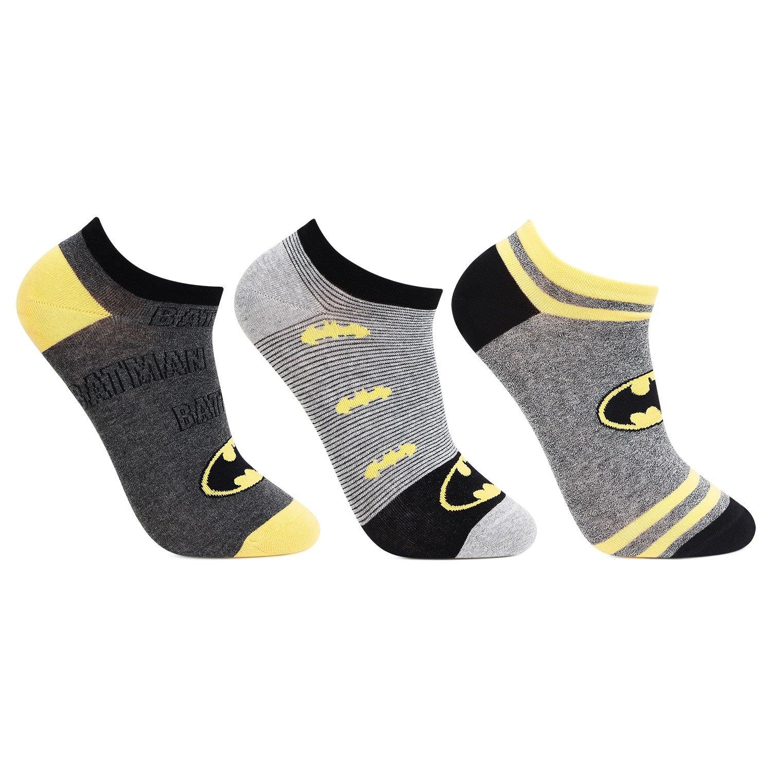 Batman Secret-Length Socks For Men - Pack Of 3