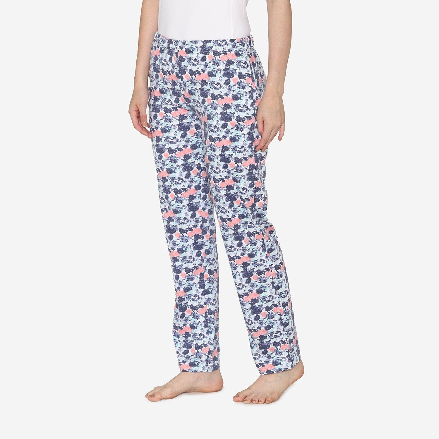 Floral Printed Cotton Pyjamas For Women in Multi-color