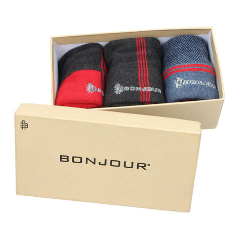 Men's Cushioned Sports Ankle Socks- Pack of 3