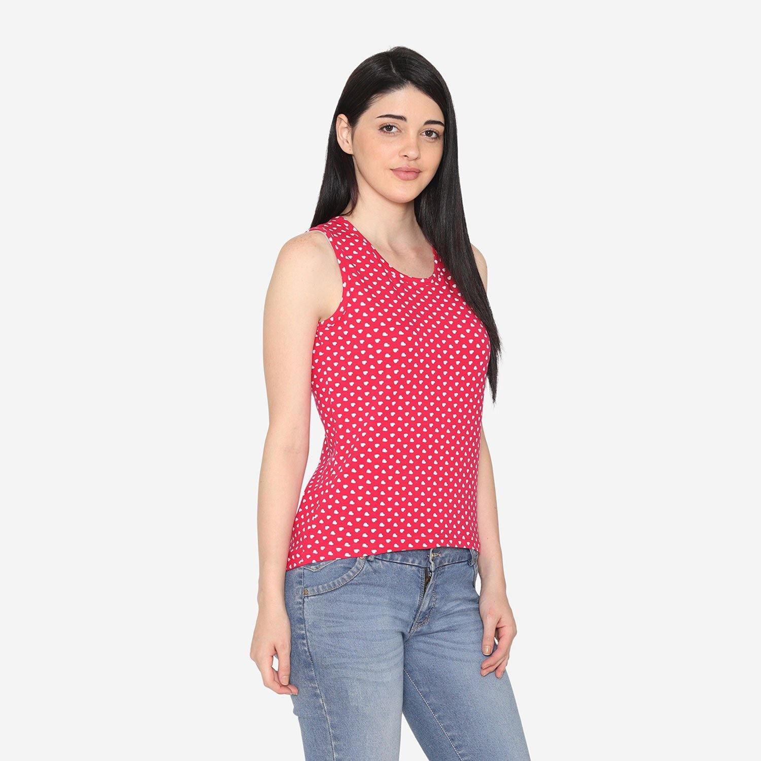 Women's Casual Sleeveless T-Shirt For Women