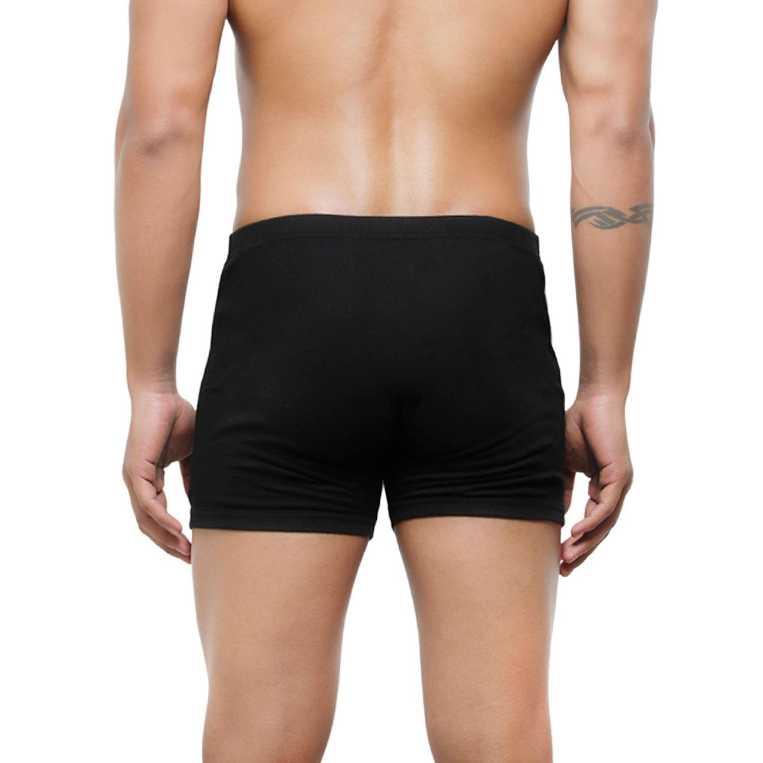 Men's Mid-Rise Classic Cotton Trunks  - Pack Of 2