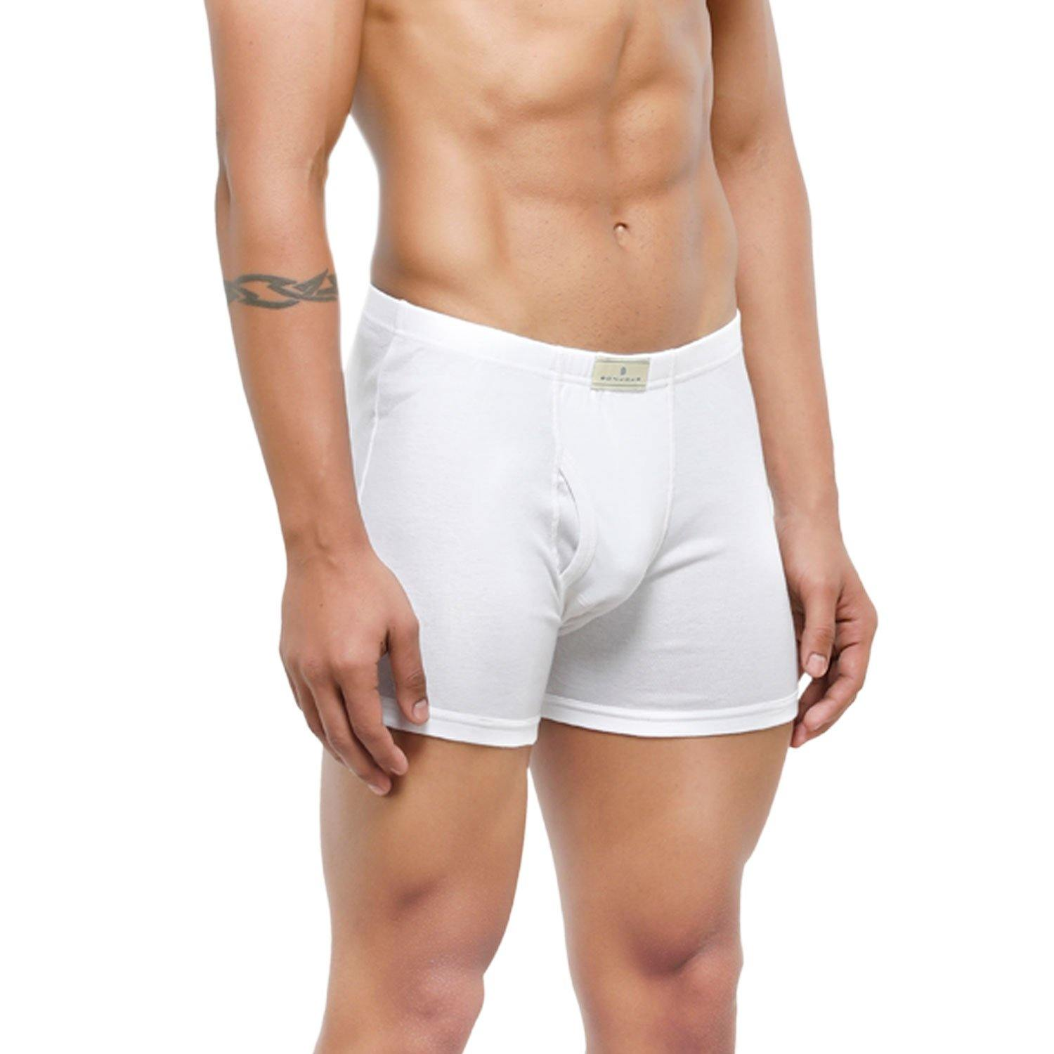 Men's Mid-Rise Classic Cotton Trunks - Pack of 2 - Bonjour Group
