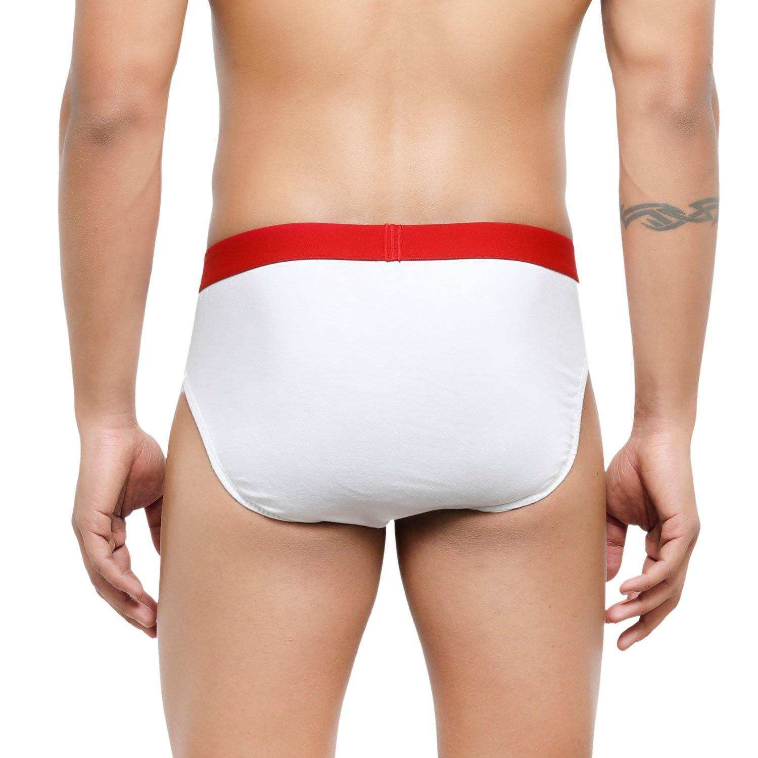 Men's Low-Rise Premia Cotton Briefs With Elasticated Band