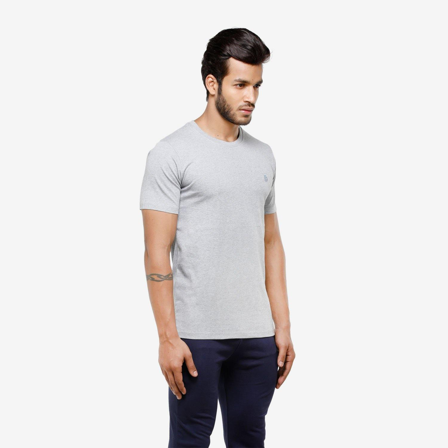 Men's Plain Half Sleeve Round Neck Casual T-Shirt For Summer
