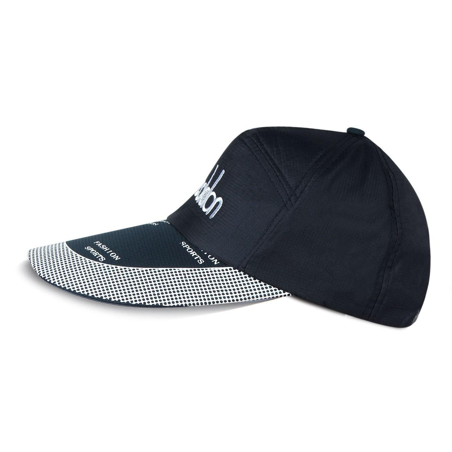 Fashionable Cotton Adjustable Summer Sports Cap with Stylish Brim For Men - Navy