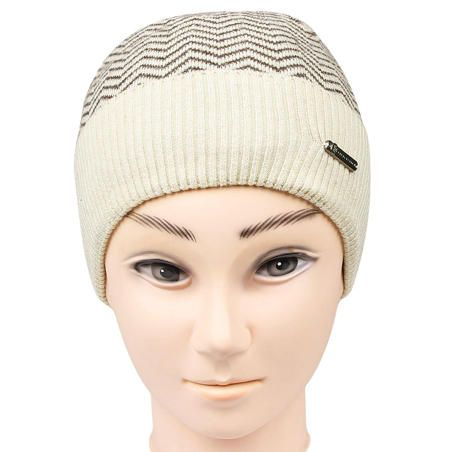 Men's Knitted Cap For Winters - Coffee