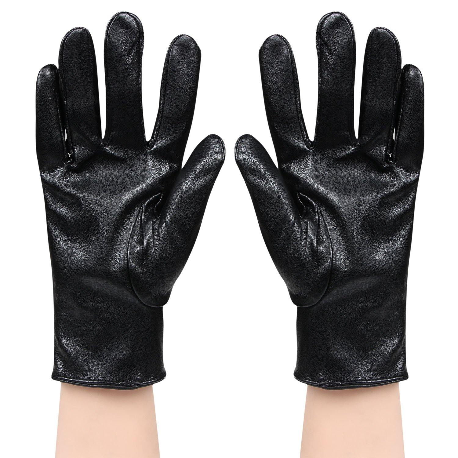 Solid Winter Men's Gloves - Black